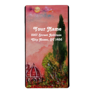 VIEW OF SAINT MARY OF FLOWER / FLORENCE IN SUNSET LABEL