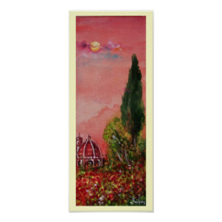 VIEW OF SAINT MARY OF FLOWER / FLORENCE IN SUNSET POSTER