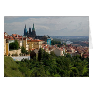 View of Saint Vitus's Cathedral, Prague, Czech Card