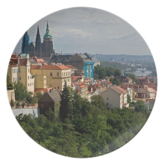View of Saint Vitus's Cathedral, Prague, Czech Melamine Plate