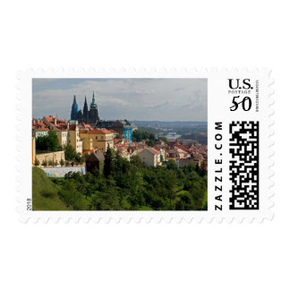 View of Saint Vitus's Cathedral, Prague, Czech Postage