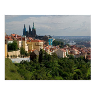 View of Saint Vitus's Cathedral, Prague, Czech Post Card