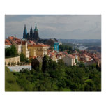 View of Saint Vitus's Cathedral, Prague, Czech Poster