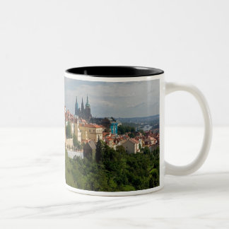 View of Saint Vitus's Cathedral, Prague, Czech Two-Tone Coffee Mug
