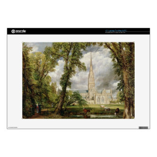 View of Salisbury Cathedral from the Bishop's Grou Decals For Laptops