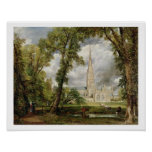 View of Salisbury Cathedral from the Bishop's Grou Print