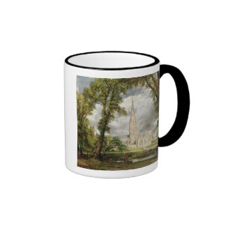 View of Salisbury Cathedral from the Bishop's Grou Ringer Mug