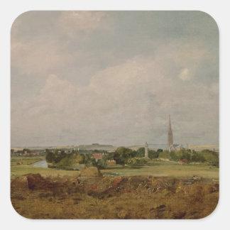 View of Salisbury Square Sticker