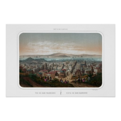 View of San Francisco (1860) Poster