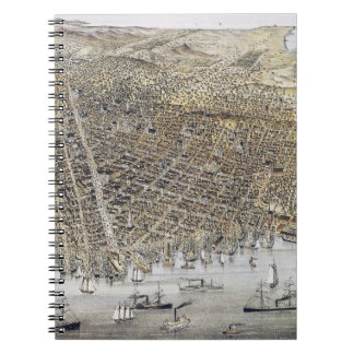 View Of San Francisco, 1878 Spiral Notebook