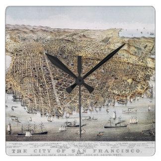 View Of San Francisco, 1878 Square Wall Clock