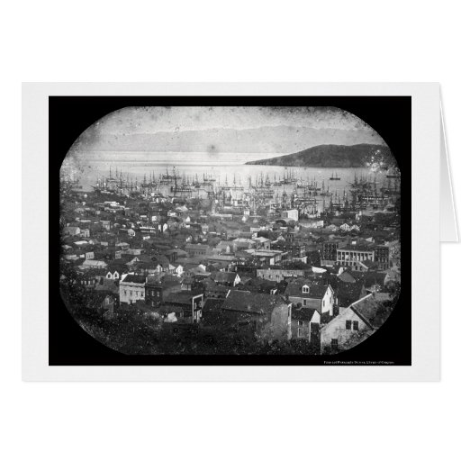 View of San Francisco Harbor Daguerreotype 1855 Card