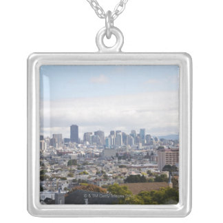 View of San Francisco skyline Silver Plated Necklace