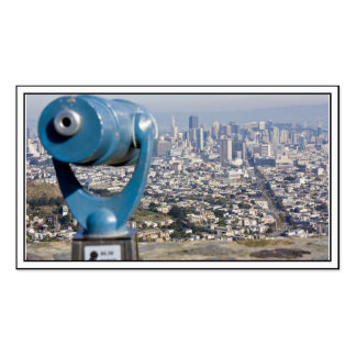 View of San Francsco (Viewer Blurred) Double-Sided Standard Business Cards (Pack Of 100)