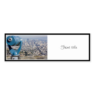View of San Francsco (Viewer Blurred) Double-Sided Mini Business Cards (Pack Of 20)