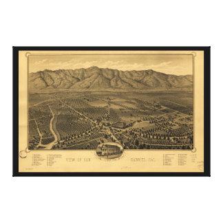 View of San Gabriel California in 1893 Canvas Print