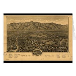 View of San Gabriel California in 1893 Card