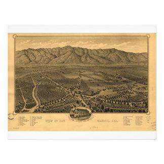 View of San Gabriel California in 1893 Letterhead