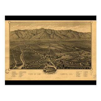 View of San Gabriel California in 1893 Postcard