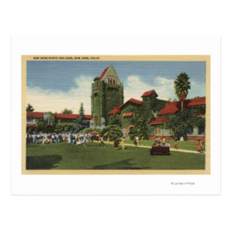 View of San Jose State College Campus Postcard