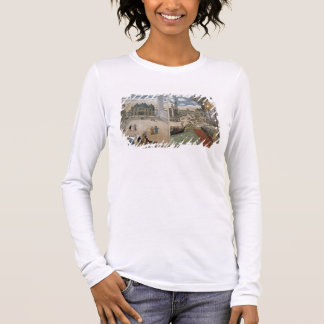 View of San Marco, and the Palazzo Ducale on fire, Long Sleeve T-Shirt
