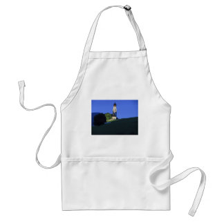 View of San Valentino church by night Adult Apron