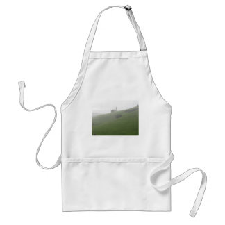 View of San Valentino church in a rainy day Adult Apron