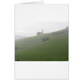View of San Valentino church in a rainy day Card