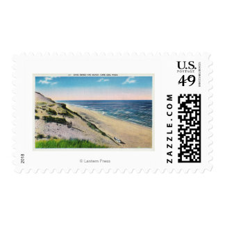 View of Sand Dunes and the Beach Postage
