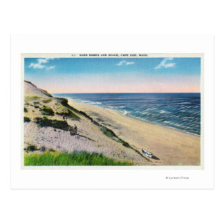 View of Sand Dunes and the Beach Postcard