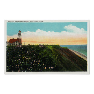 View of Sankaty Head Lighthouse Poster
