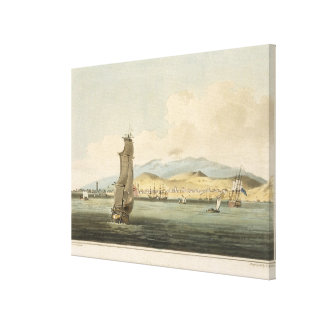 View of Santa Cruz, plate 3 from 'A Voyage to Coch Canvas Print