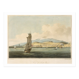 View of Santa Cruz, plate 3 from 'A Voyage to Coch Postcard