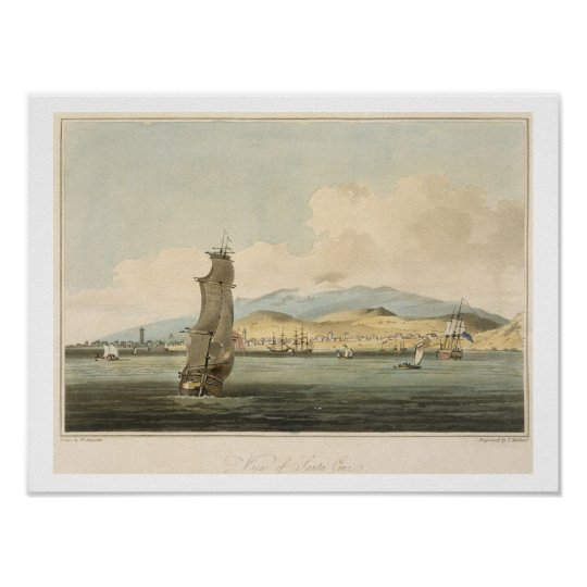 View of Santa Cruz, plate 3 from 'A Voyage to Coch Poster