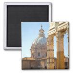 View of Santi Luca e Martina in the Roman Forum 2 Inch Square Magnet