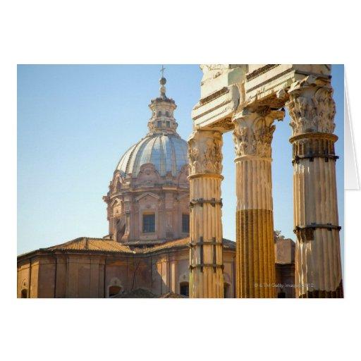 View of Santi Luca e Martina in the Roman Forum Card