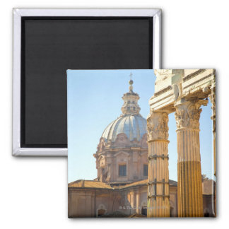 View of Santi Luca e Martina in the Roman Forum Magnet