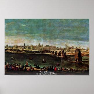 View Of Saragossa By J.B. MartãNez Del Mazo Print