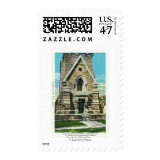 View of Saratoga Battle Monument Postage