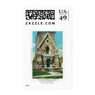 View of Saratoga Battle Monument Postage Stamp