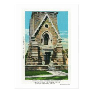 View of Saratoga Battle Monument Postcard