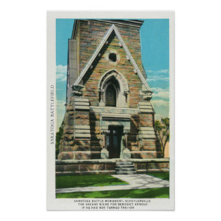 View of Saratoga Battle Monument Poster