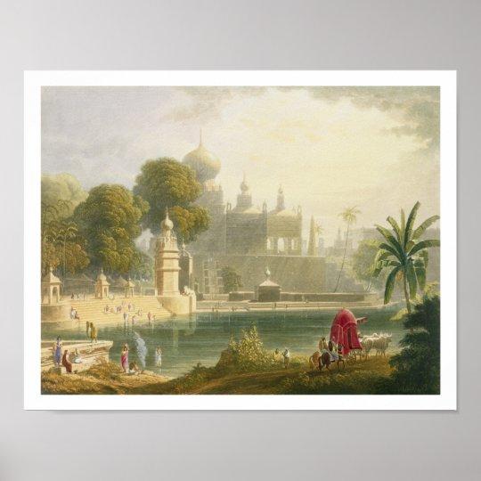 View of Sassoor in the Deccan, from Volume II of ' Poster
