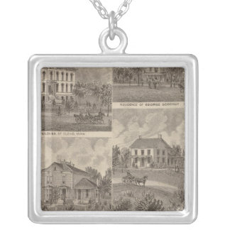 View of Sauk Rapids, Minnesota Silver Plated Necklace