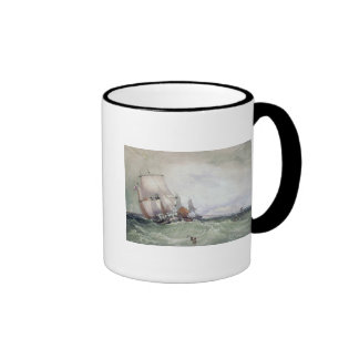 View of Scarborough, with a Collier Brig Ringer Mug