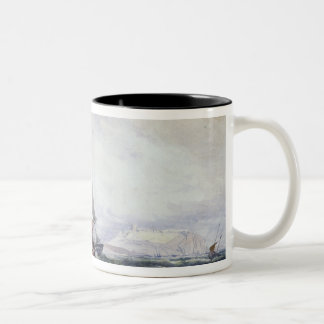 View of Scarborough, with a Collier Brig Two-Tone Coffee Mug