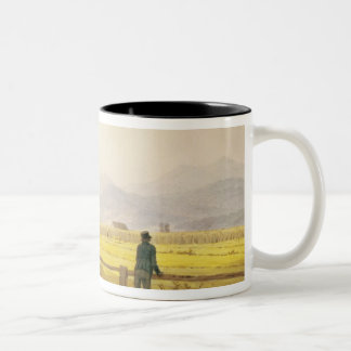 View of Schmiedebergerkamm, c.1837 Two-Tone Coffee Mug
