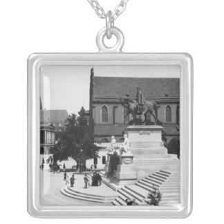 View of Schweidnitz, Breslau  Poland, c.1910 Silver Plated Necklace