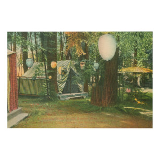 View of Scotts Camp, RedwoodsRussian River, CA Wood Wall Decor