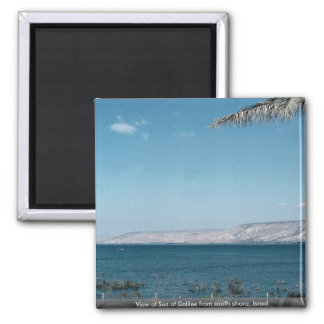 View of Sea of Galilee from south shore, Israel 2 Inch Square Magnet
